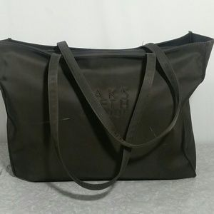 SAKS FIFTH AVENUE Chocolate Brown Tote Bag